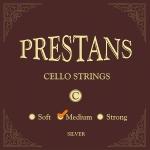 Cello 4/4 Prestans C srebrne medium