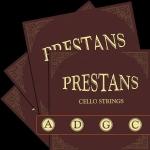Cello 4/4 Prestans kpl.srebrne medium